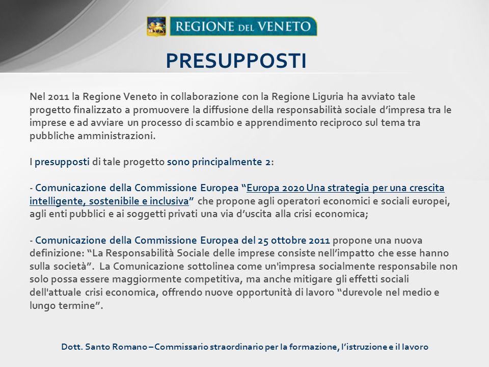 Nel 2011 la Regione Veneto in collaborazione con la Regione Liguria ha avviato tale progetto finalizzato a promuovere la diffusione della responsabili