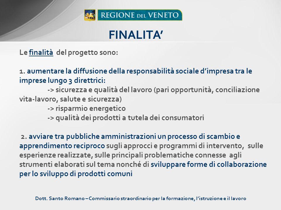 Il progetto interregionale è strutturato in 4 azioni: 1.