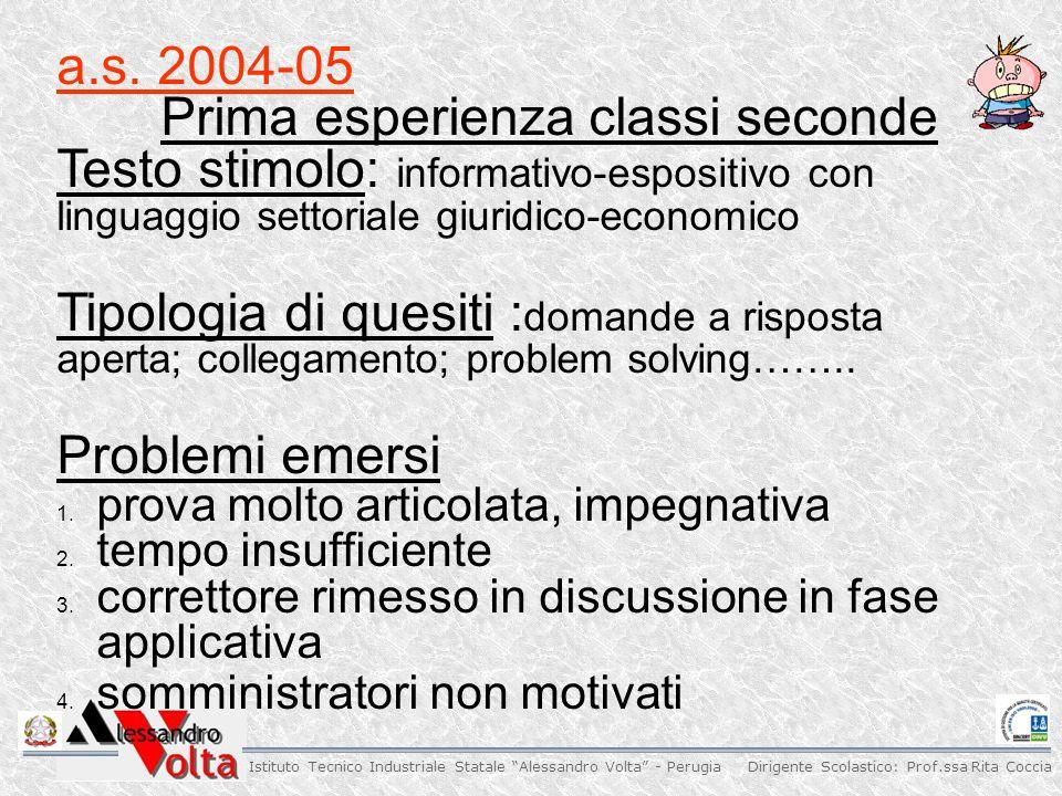 Dirigente Scolastico: Prof.ssa Rita Coccia Istituto Tecnico Industriale Statale Alessandro Volta - Perugia a.s.