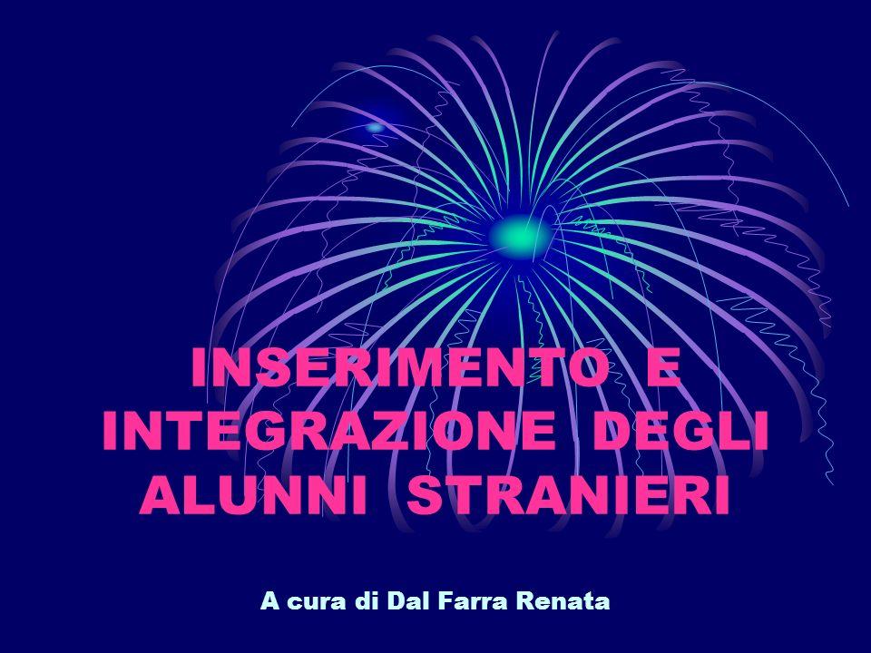 INSERIMENTO E INTEGRAZIONE DEGLI ALUNNI STRANIERI A cura di Dal Farra Renata