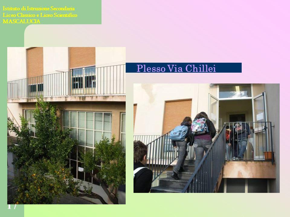 16 Istituto di Istruzione Secondaria Liceo Classico e Liceo Scientifico MASCALUCIA Via dei Villini 19 - tel. 095 7272517 Plesso centrale Presidenza Se