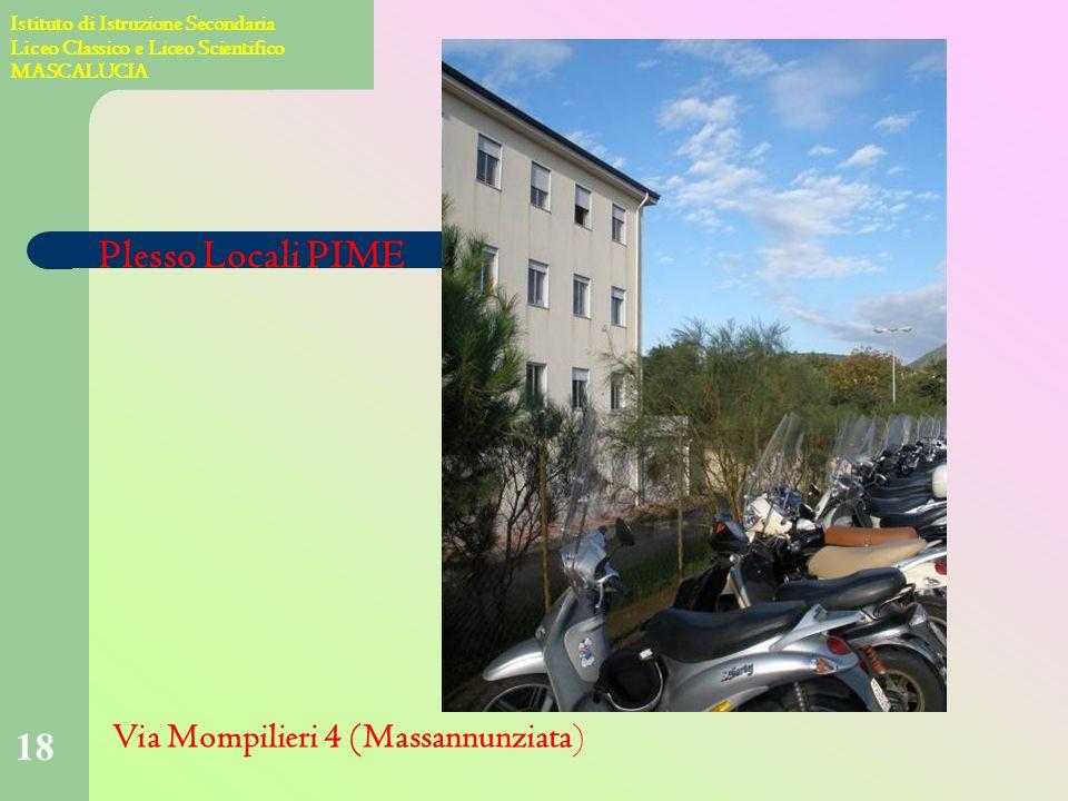 17 Istituto di Istruzione Secondaria Liceo Classico e Liceo Scientifico MASCALUCIA Plesso Via Chillei