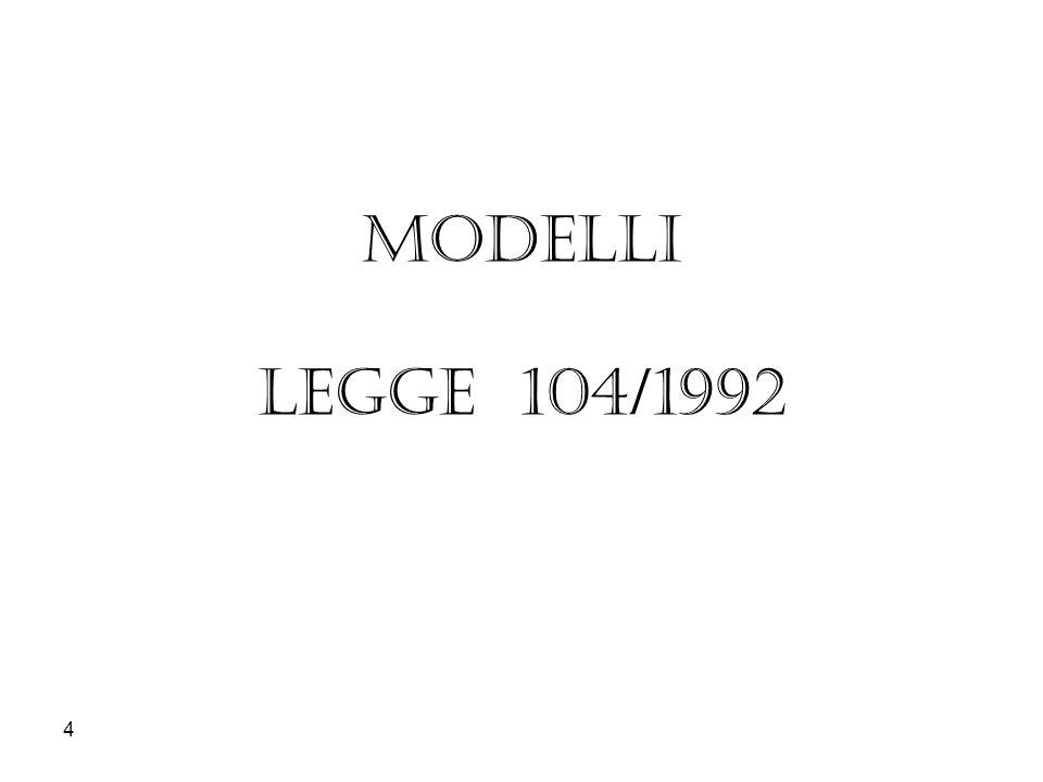 4 MODELLI LEGGE 104/1992