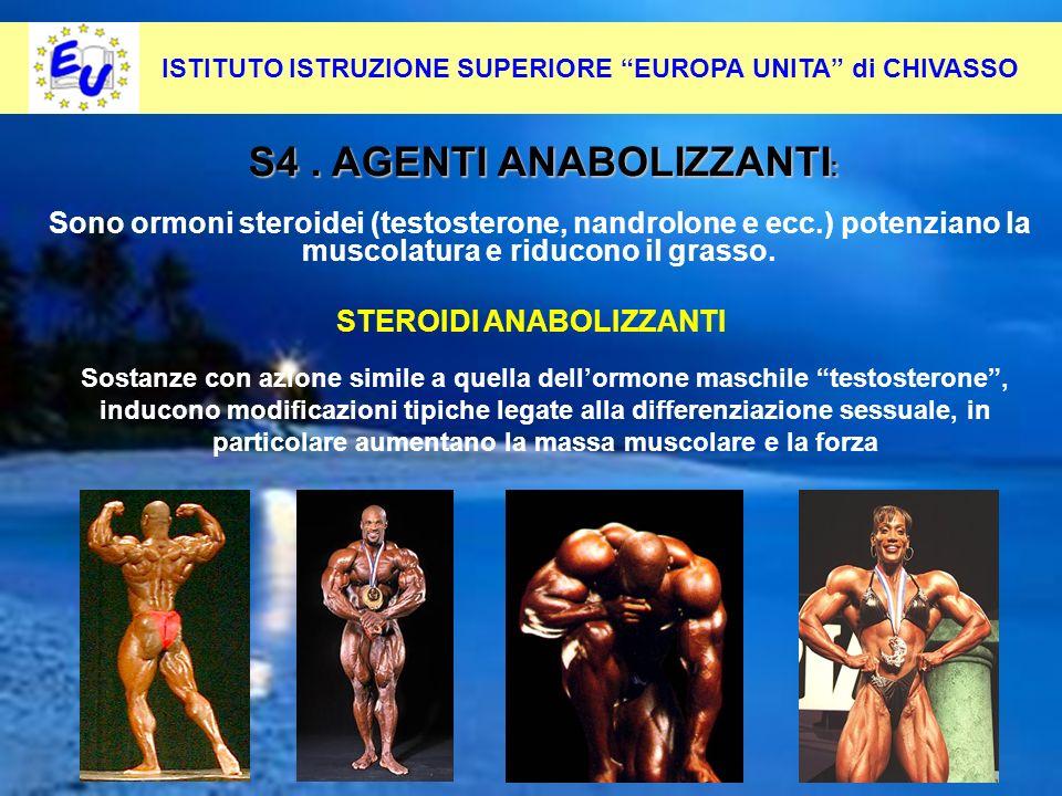 29 Per contrastare questo fenomeno occorre: Pevenirlo alla radice S4. AGENTI ANABOLIZZANTI : STEROIDI ANABOLIZZANTI Sono ormoni steroidei (testosteron