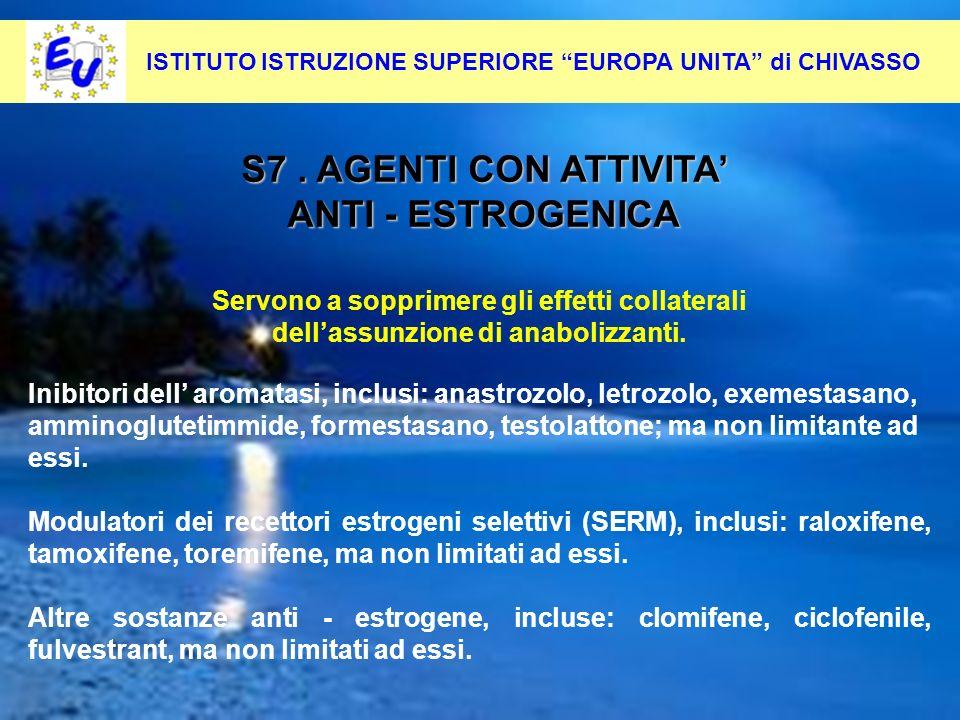35 Per contrastare questo fenomeno occorre: Pevenirlo alla radice S7. AGENTI CON ATTIVITA ANTI - ESTROGENICA ISTITUTO ISTRUZIONE SUPERIORE EUROPA UNIT