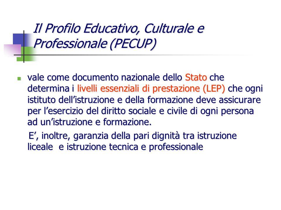 vale come documento nazionale dello Stato che determina i livelli essenziali di prestazione (LEP) che ogni istituto dellistruzione e della formazione