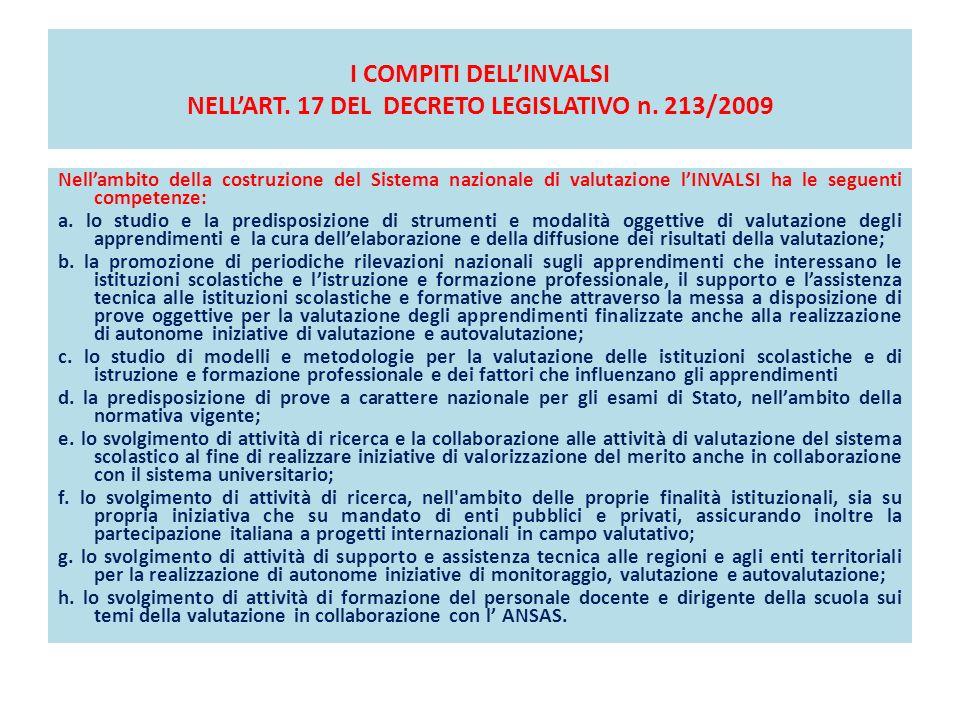 I COMPITI DELLINVALSI NELLART.17 DEL DECRETO LEGISLATIVO n.