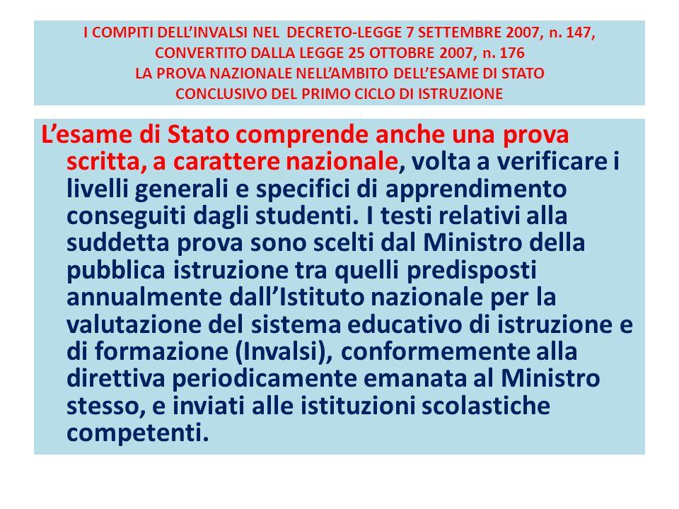 I COMPITI DELLINVALSI NEL DECRETO-LEGGE 7 SETTEMBRE 2007, n.