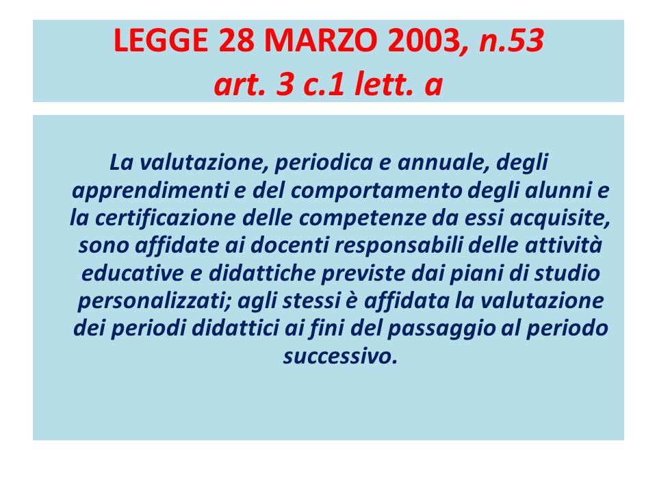 LEGGE 28 MARZO 2003, n.53 art.3 c.1 lett.