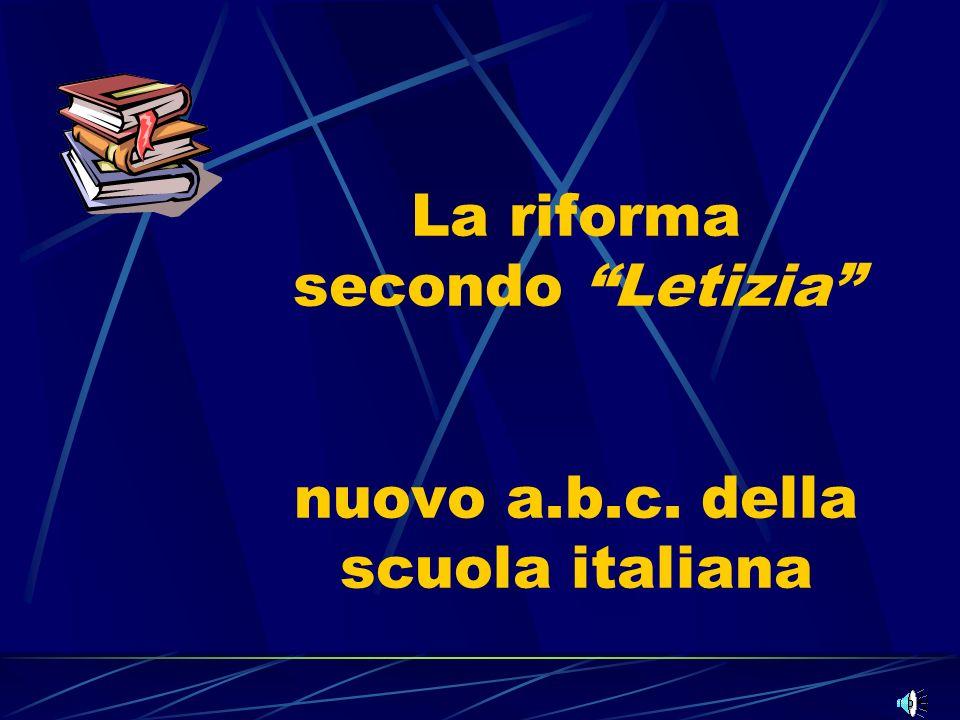 La riforma secondo Letizia nuovo a.b.c. della scuola italiana