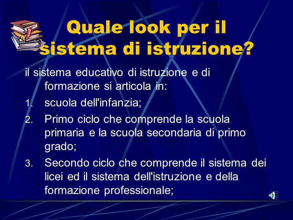Quale look per il sistema di istruzione.