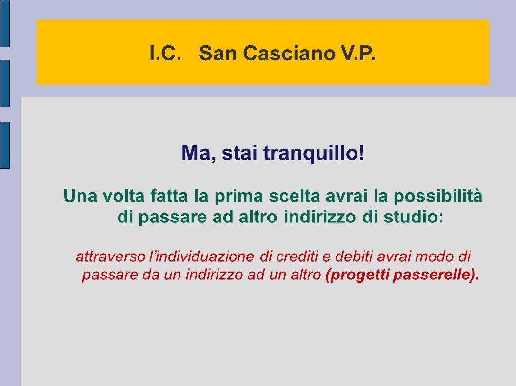 I.C.San Casciano V.P. Ma, stai tranquillo.