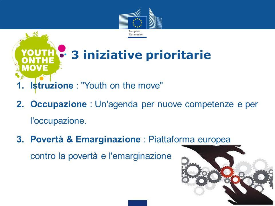 3 iniziative prioritarie 1.Istruzione :