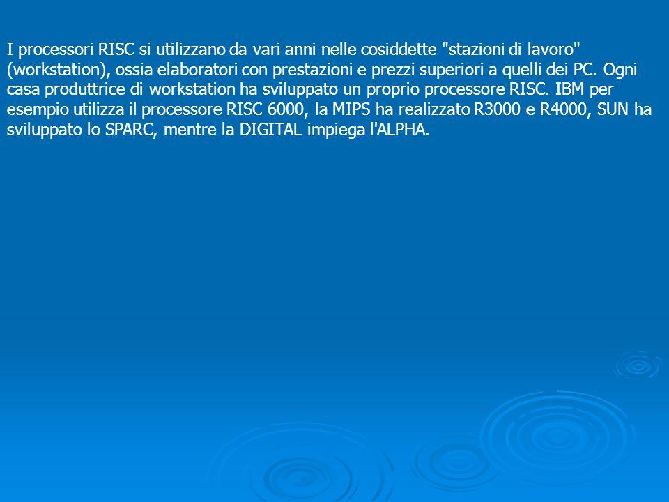 I processori RISC si utilizzano da vari anni nelle cosiddette
