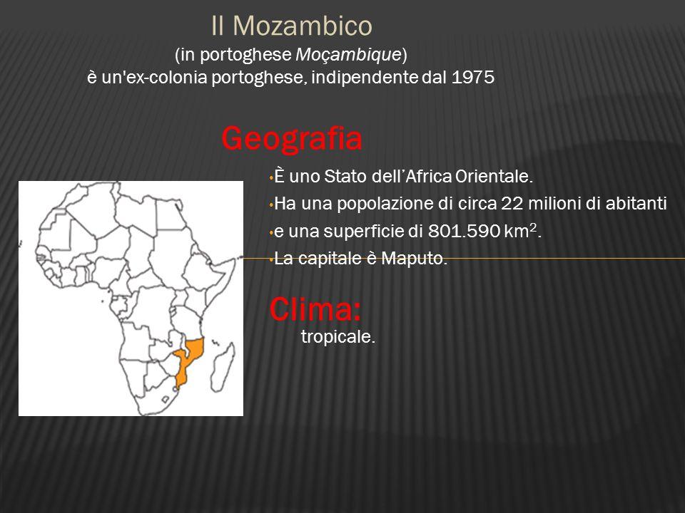 È uno Stato dellAfrica Orientale. Ha una popolazione di circa 22 milioni di abitanti e una superficie di 801.590 km 2. La capitale è Maputo. Il Mozamb