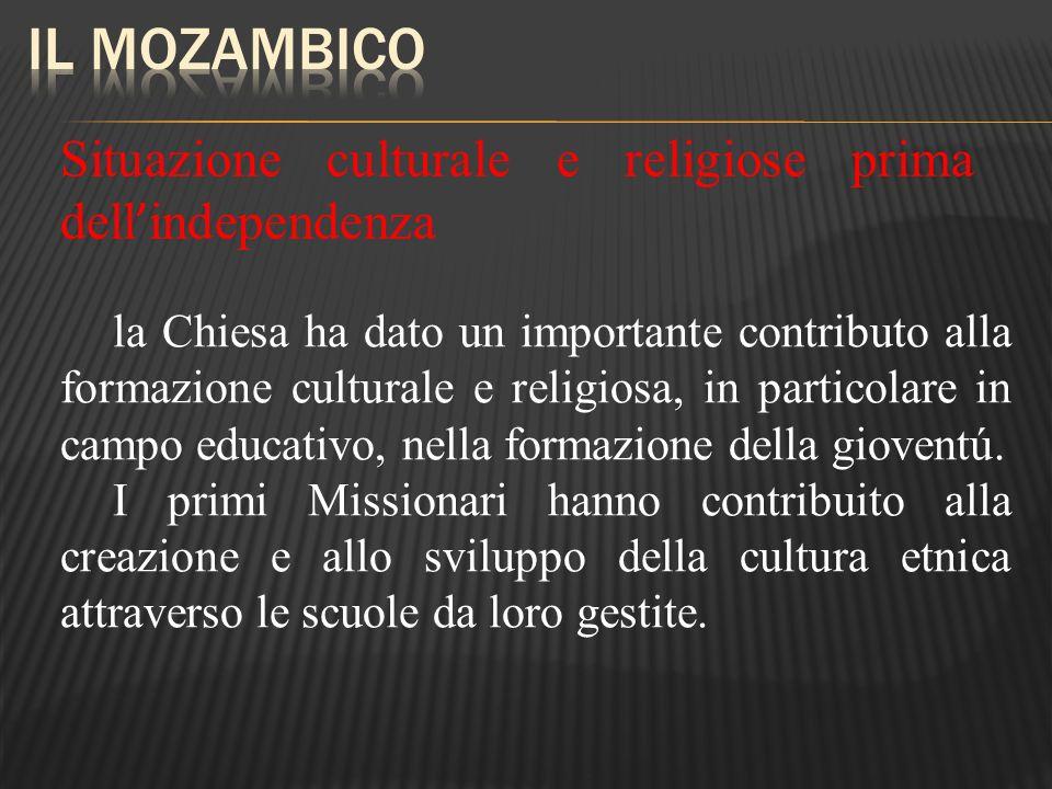 Situazione culturale e religiose prima dell independenza la Chiesa ha dato un importante contributo alla formazione culturale e religiosa, in particol