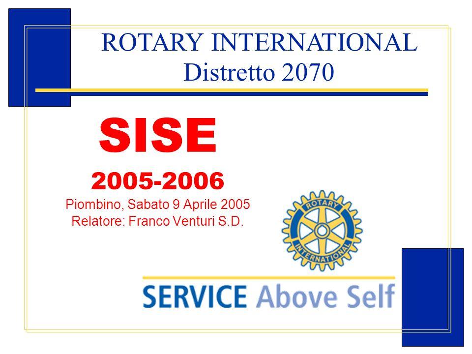 Carlo Michelotti, Gov.Distr.1980 (1996/97) SISE 2005-2006 Piombino, Sabato 9 Aprile 2005 Relatore: Franco Venturi S.D. ROTARY INTERNATIONAL Distretto
