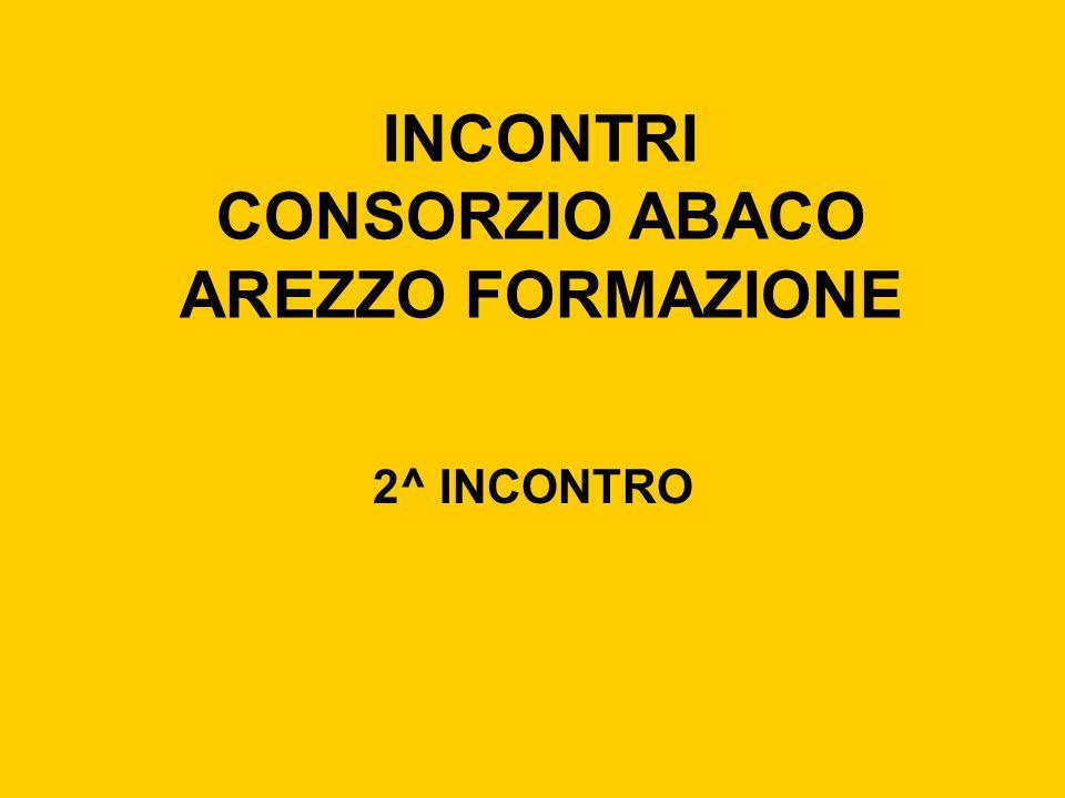 INCONTRI CONSORZIO ABACO AREZZO FORMAZIONE 2^ INCONTRO