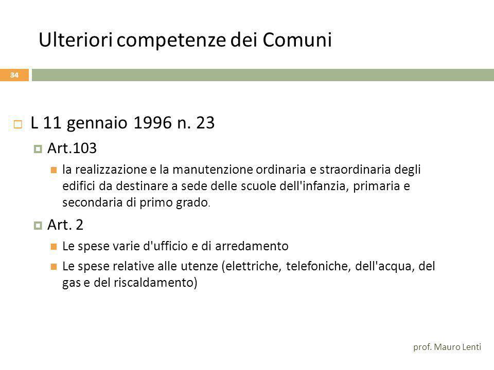 Le conferme del TU Dlgs 297/94 33 Art.