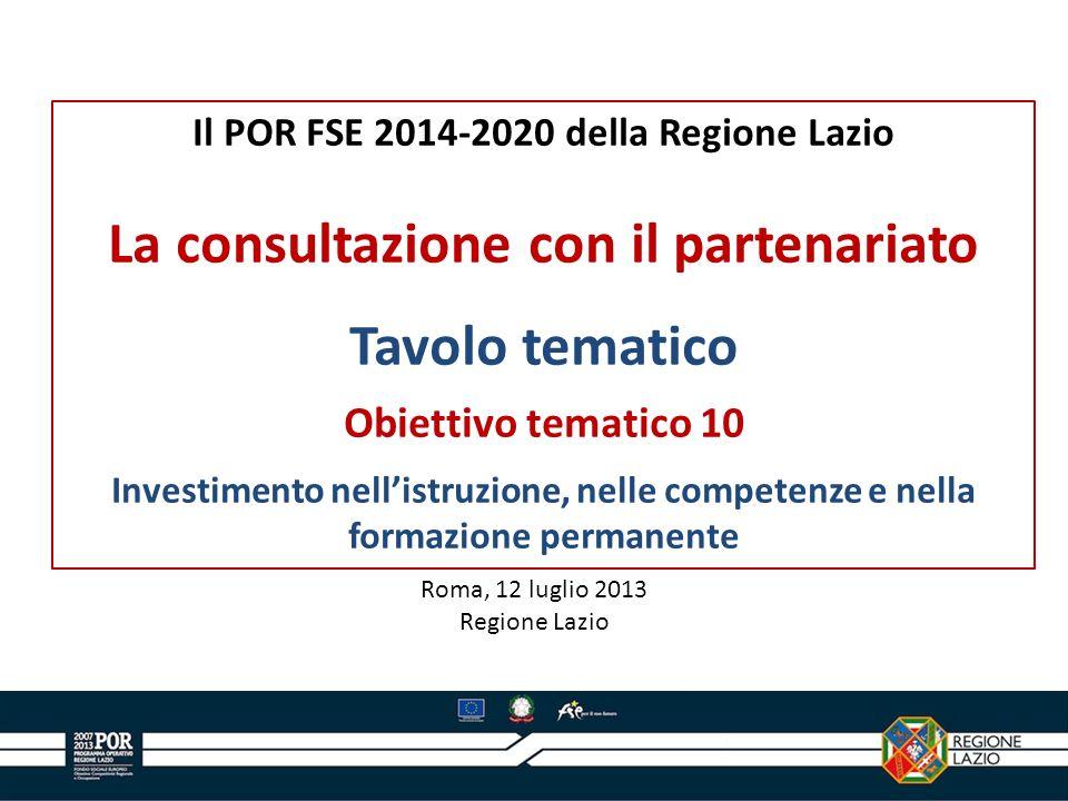 12 Oltre al Position Paper, un altro elemento di cui tener conto sono le Raccomandazioni della Commissione europea per il 2013 (nel quadro della strategia EU 2020) per lItalia – ratificate da parte del Consiglio europeo.