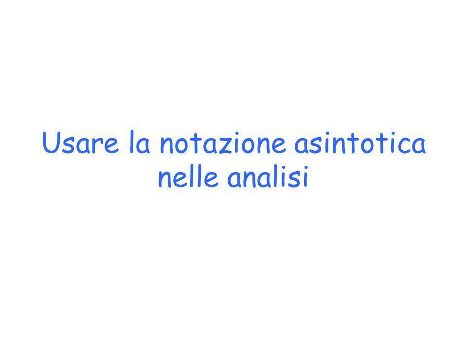 Usare la notazione asintotica nelle analisi