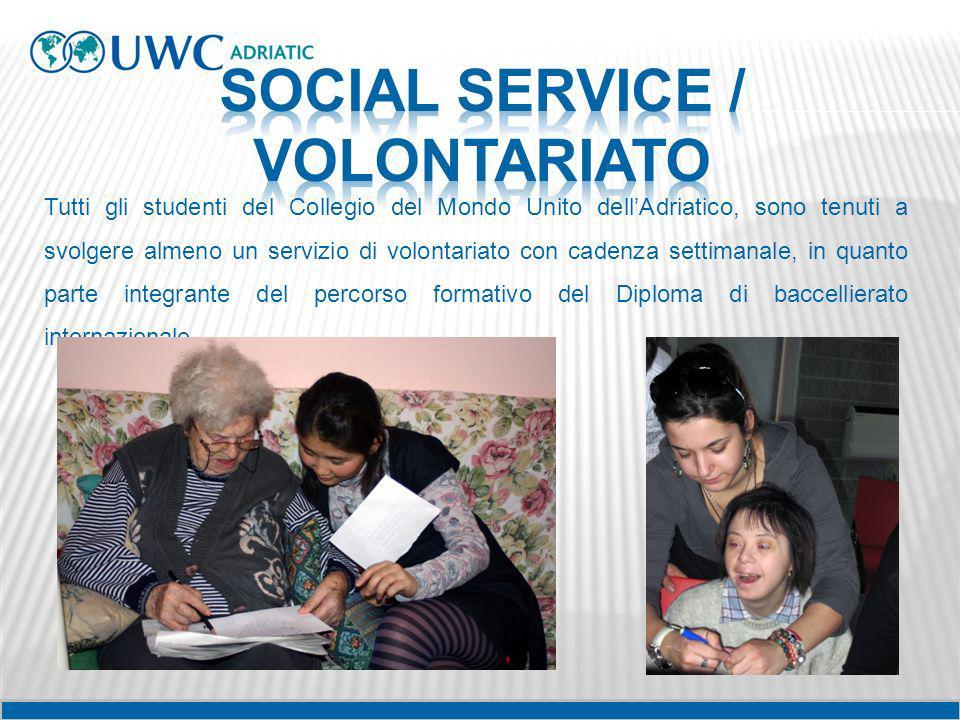 Tutti gli studenti del Collegio del Mondo Unito dellAdriatico, sono tenuti a svolgere almeno un servizio di volontariato con cadenza settimanale, in q