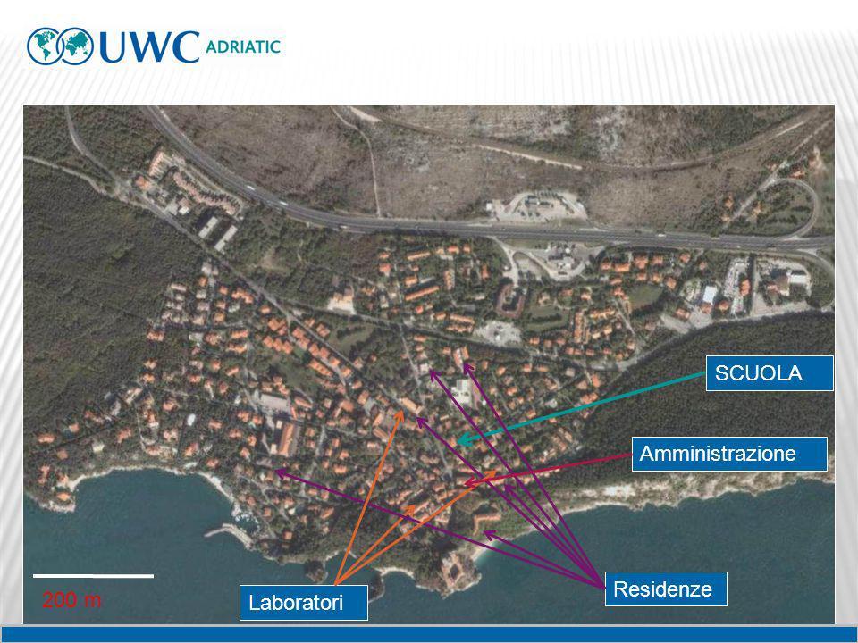 SCUOLA Residenze 200 m Laboratori Amministrazione