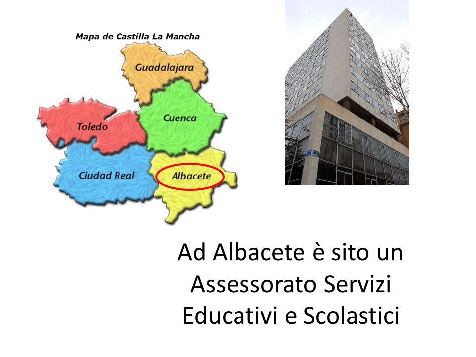 Ad Albacete è sito un Assessorato Servizi Educativi e Scolastici