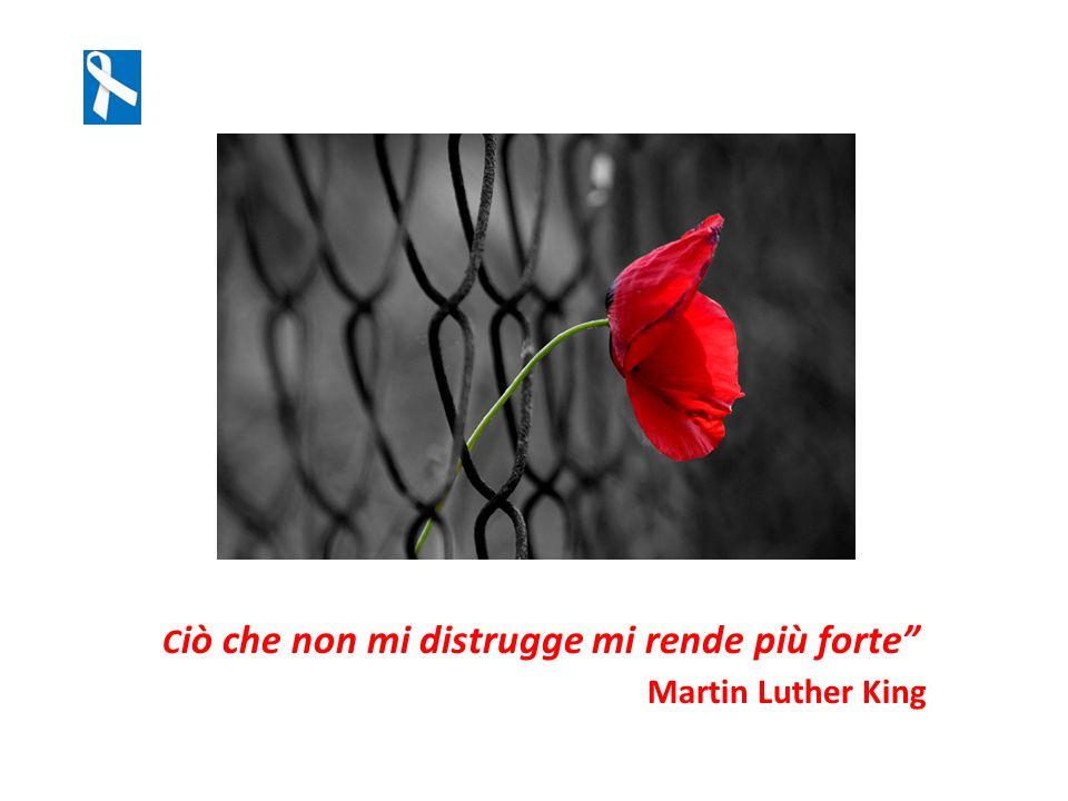 C iò che non mi distrugge mi rende più forte Martin Luther King