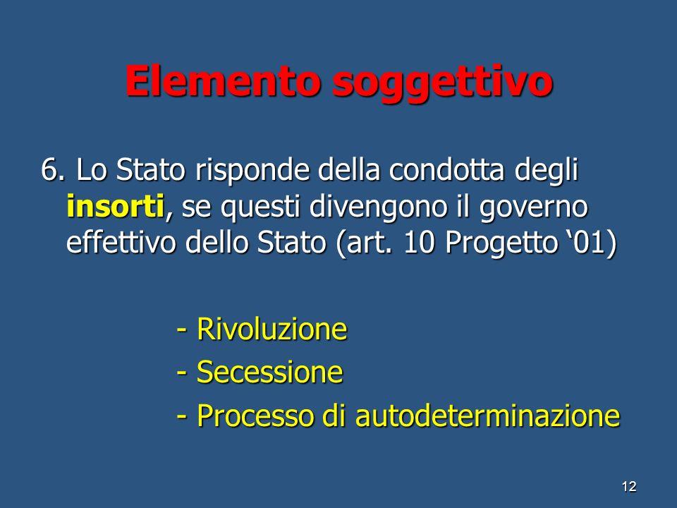 Elemento soggettivo 6.