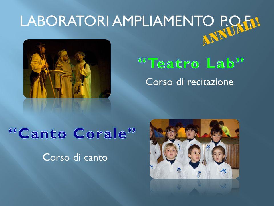 LABORATORI AMPLIAMENTO P.O.F.