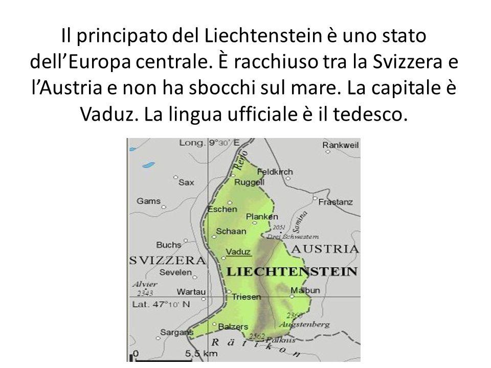 Il principato del Liechtenstein è uno stato dellEuropa centrale. È racchiuso tra la Svizzera e lAustria e non ha sbocchi sul mare. La capitale è Vaduz
