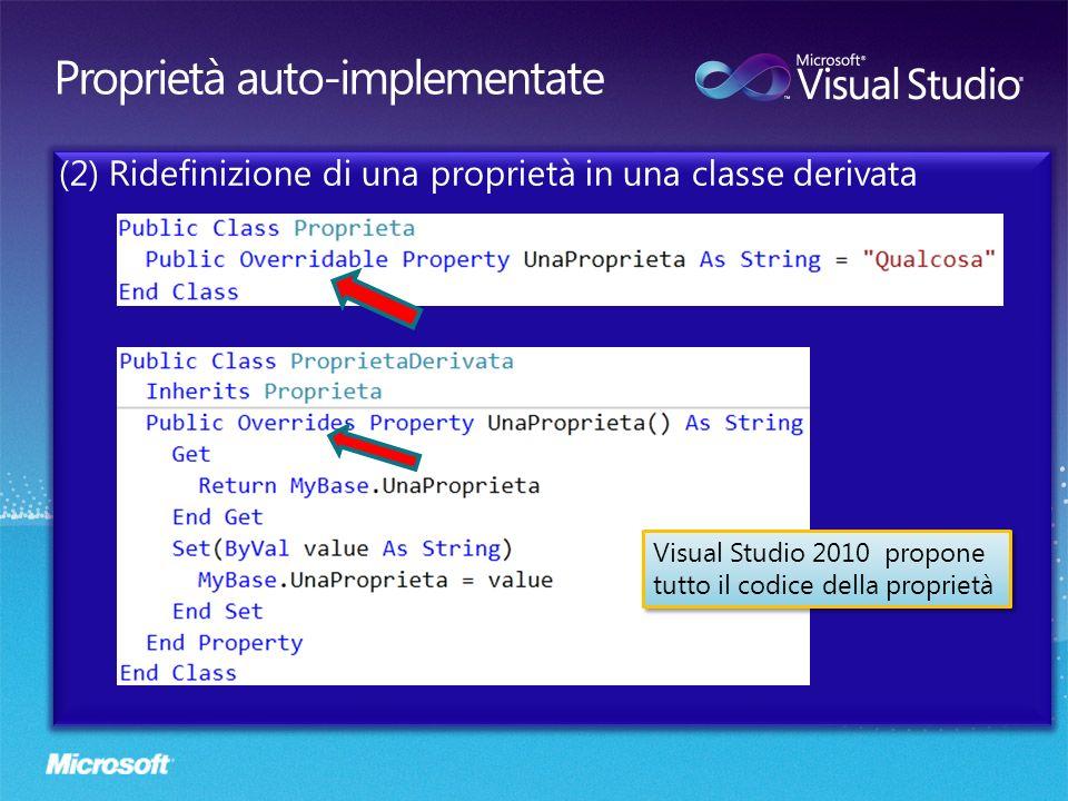 Visual Studio 2010 propone tutto il codice della proprietà