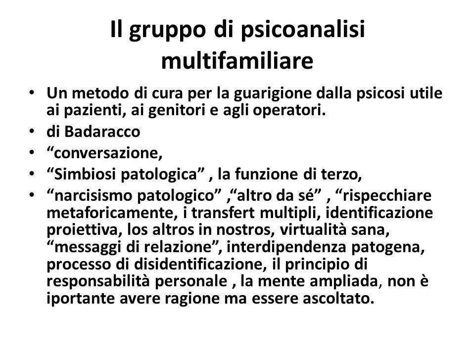 Il gruppo di psicoanalisi multifamiliare Un metodo di cura per la guarigione dalla psicosi utile ai pazienti, ai genitori e agli operatori. di Badarac