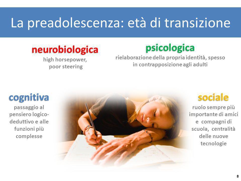 La preadolescenza: età di transizione cognitiva cognitiva passaggio al pensiero logico- deduttivo e alle funzioni più complesse neurobiologica high ho