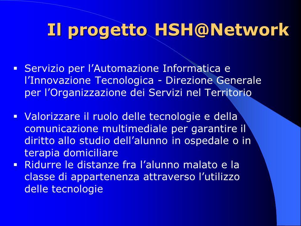 Il progetto HSH@Network Servizio per lAutomazione Informatica e lInnovazione Tecnologica - Direzione Generale per lOrganizzazione dei Servizi nel Terr