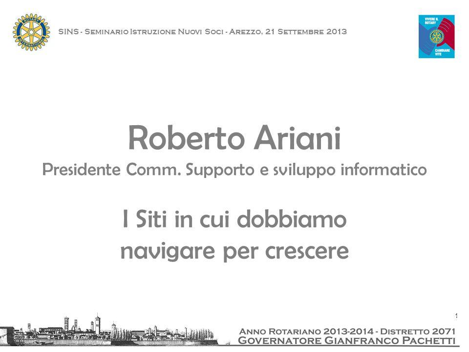 SINS - Seminario Istruzione Nuovi Soci - Arezzo, 21 Settembre 2013 12