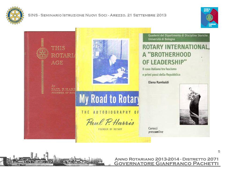 SINS - Seminario Istruzione Nuovi Soci - Arezzo, 21 Settembre 2013 16
