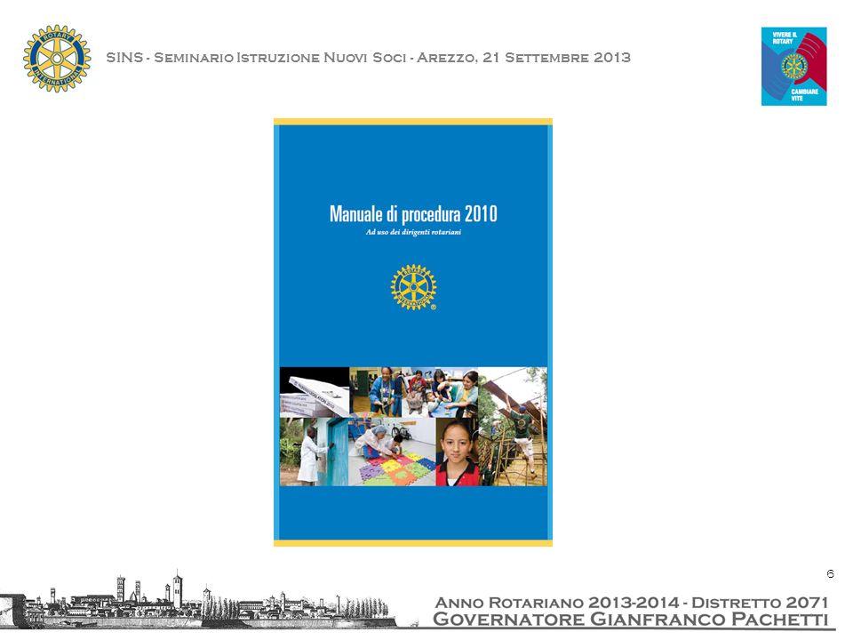 SINS - Seminario Istruzione Nuovi Soci - Arezzo, 21 Settembre 2013 17