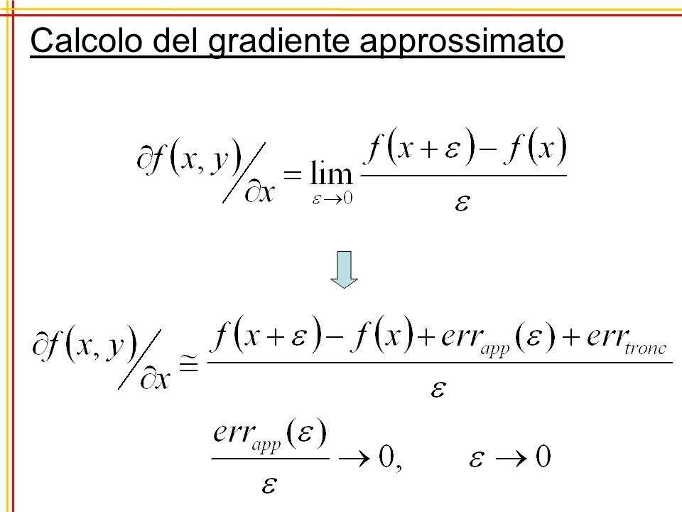 Calcolo del gradiente approssimato