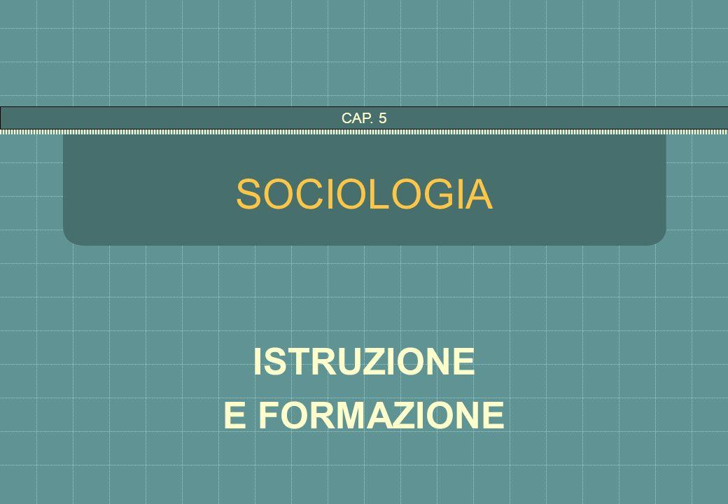 SOCIOLOGIA ISTRUZIONE E FORMAZIONE CAP. 5