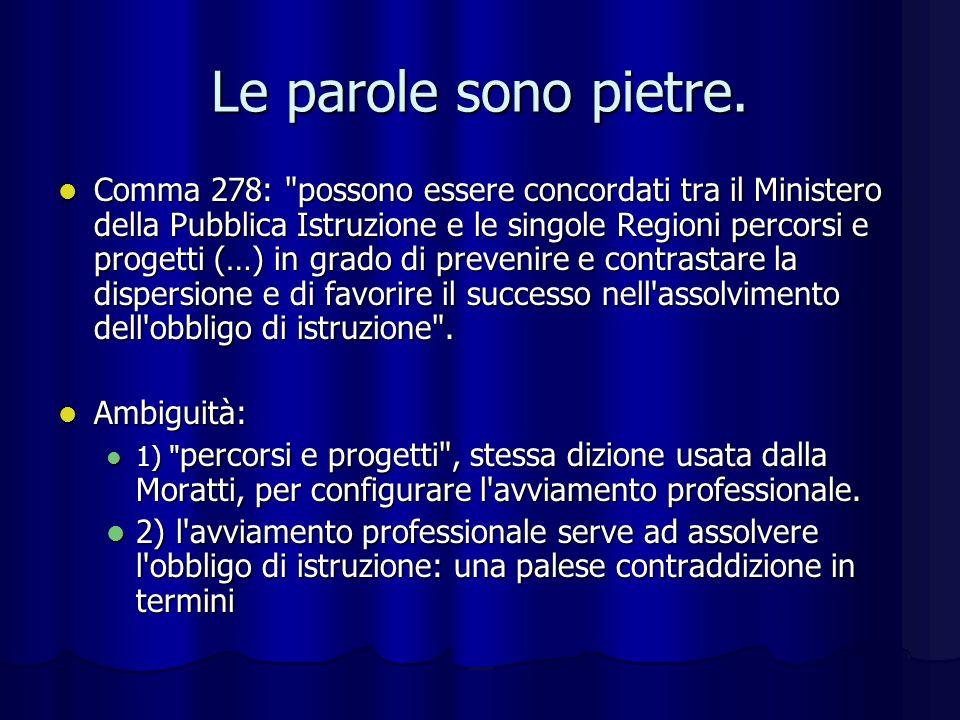 Errori da non ripetere Scuola come merce di scambio Scuola come merce di scambio Analogie con il diritto-dovere della Moratti: in quel caso ci siamo battuti per spiegare la differenza tra i due termini.
