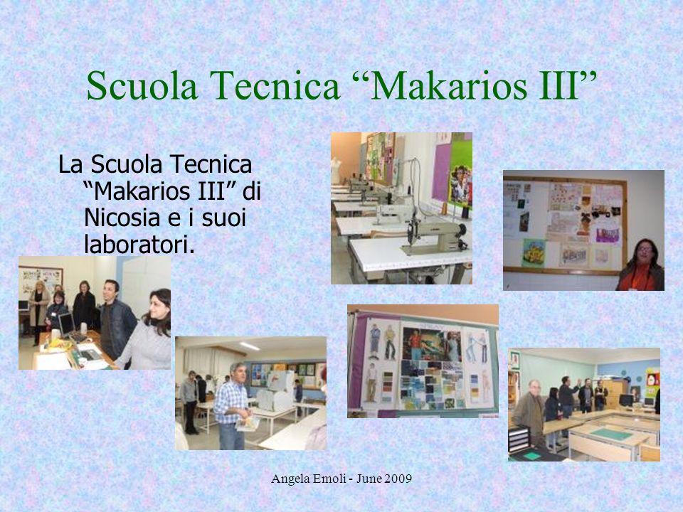 Angela Emoli - June 2009 Scuola Tecnica Makarios III La Scuola Tecnica Makarios III di Nicosia e i suoi laboratori.