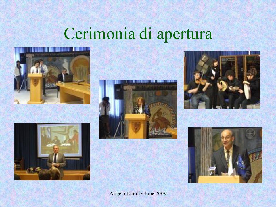 Angela Emoli - June 2009 Presentazione dei partecipanti: Italia Angela Emoli illustra il sistema scolastico in Italia e Antonio Cutolo parla dei collegamenti fra Ministero, scuole, università e imprese.