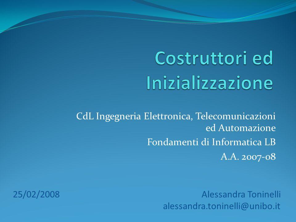 CdL Ingegneria Elettronica, Telecomunicazioni ed Automazione Fondamenti di Informatica LB A.A.