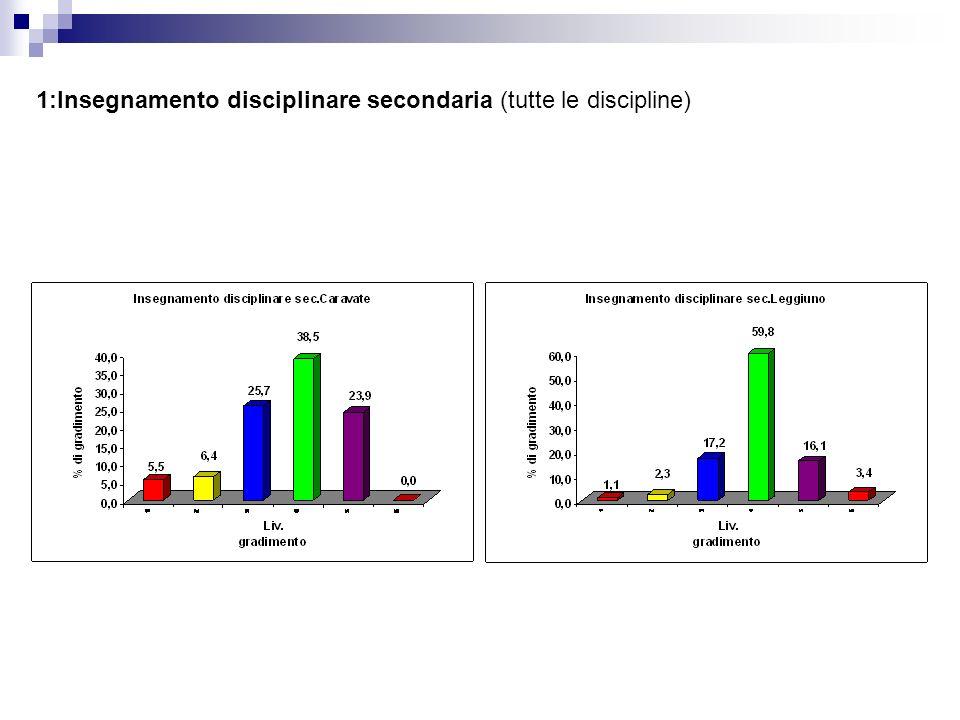 1:Insegnamento disciplinare secondaria (tutte le discipline)