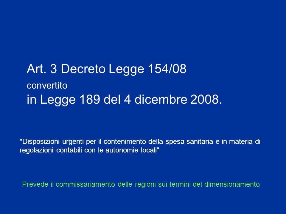 Art. 3 Decreto Legge 154/08 convertito in Legge 189 del 4 dicembre 2008.