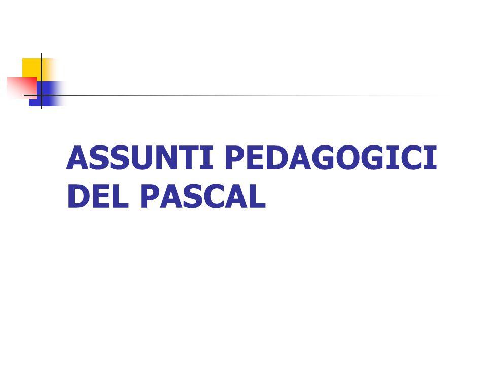 ASSUNTI PEDAGOGICI DEL PASCAL