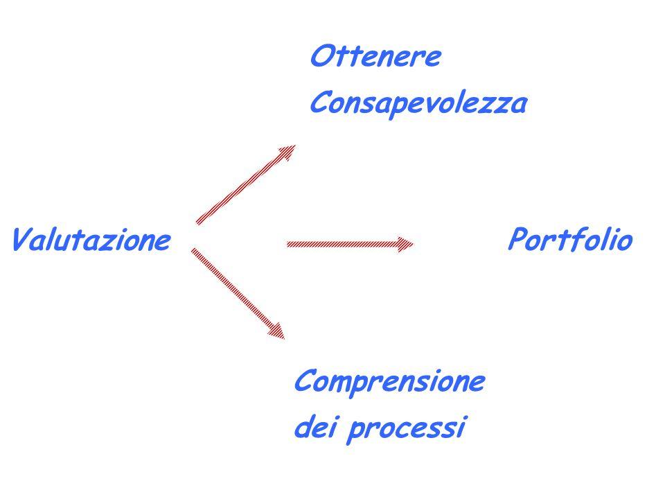 Valutazione Ottenere Consapevolezza Comprensione dei processi Portfolio