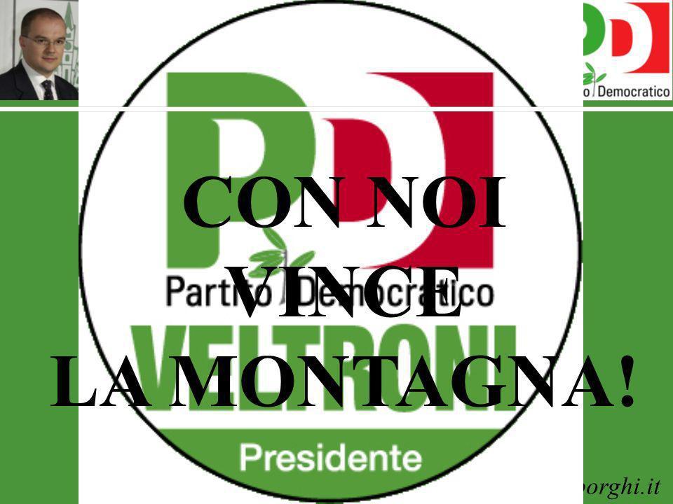 www.enricoborghi.it Enrico Borghi CON NOI VINCE LA MONTAGNA!